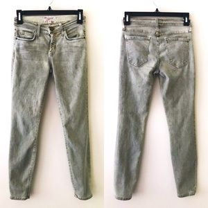CURRENT ELLIOTT The Stiletto Bleach Out Army Jeans